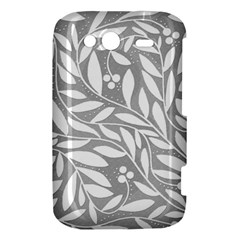 Gray and white floral pattern HTC Wildfire S A510e Hardshell Case