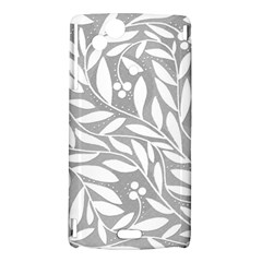 Gray and white floral pattern Sony Xperia Arc