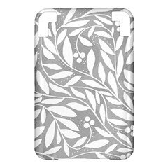 Gray and white floral pattern Kindle 3 Keyboard 3G