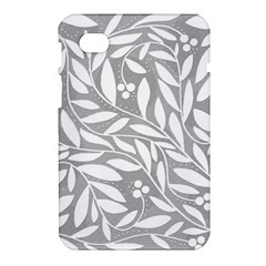 Gray and white floral pattern Samsung Galaxy Tab 7  P1000 Hardshell Case