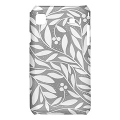 Gray and white floral pattern Samsung Galaxy S i9008 Hardshell Case