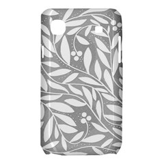 Gray and white floral pattern Samsung Galaxy SL i9003 Hardshell Case
