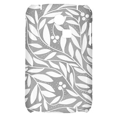 Gray and white floral pattern Samsung S3350 Hardshell Case