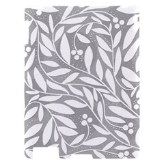 Gray and white floral pattern Apple iPad 2 Hardshell Case