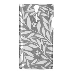 Gray and white floral pattern Sony Xperia S