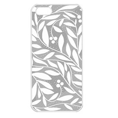 Gray and white floral pattern Apple iPhone 5 Seamless Case (White)