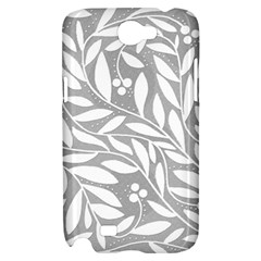Gray and white floral pattern Samsung Galaxy Note 2 Hardshell Case