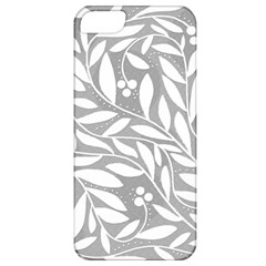 Gray and white floral pattern Apple iPhone 5 Classic Hardshell Case