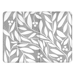 Gray and white floral pattern Kindle Fire (1st Gen) Flip Case