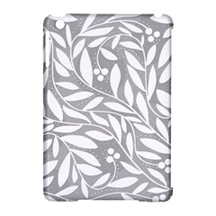 Gray and white floral pattern Apple iPad Mini Hardshell Case (Compatible with Smart Cover)