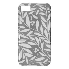 Gray and white floral pattern BlackBerry Z10