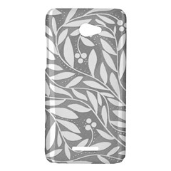 Gray and white floral pattern HTC Butterfly X920E Hardshell Case