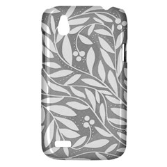 Gray and white floral pattern HTC Desire V (T328W) Hardshell Case