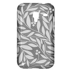 Gray and white floral pattern Samsung Galaxy Ace Plus S7500 Hardshell Case