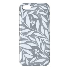 Gray and white floral pattern Apple iPhone 5 Premium Hardshell Case