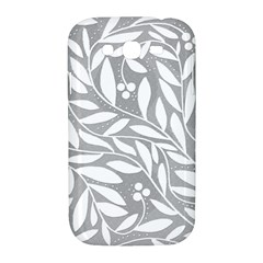 Gray and white floral pattern Samsung Galaxy Grand DUOS I9082 Hardshell Case