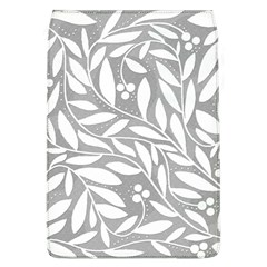 Gray and white floral pattern Flap Covers (L)