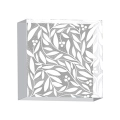 Gray and white floral pattern 4 x 4  Acrylic Photo Blocks