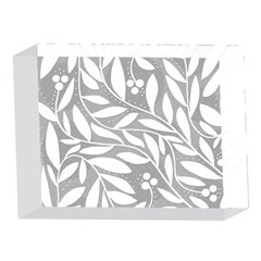 Gray and white floral pattern 5 x 7  Acrylic Photo Blocks