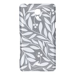 Gray and white floral pattern Sony Xperia T