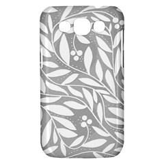 Gray and white floral pattern Samsung Galaxy Win I8550 Hardshell Case