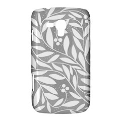 Gray and white floral pattern Samsung Galaxy Duos I8262 Hardshell Case