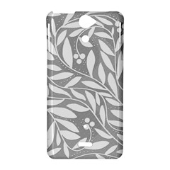 Gray and white floral pattern Sony Xperia V