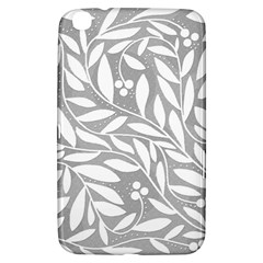 Gray and white floral pattern Samsung Galaxy Tab 3 (8 ) T3100 Hardshell Case