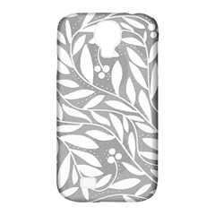 Gray and white floral pattern Samsung Galaxy S4 Classic Hardshell Case (PC+Silicone)
