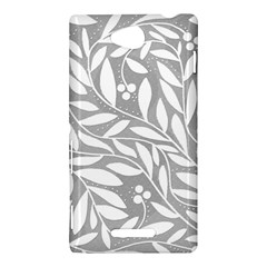 Gray and white floral pattern Sony Xperia C (S39H)
