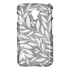 Gray and white floral pattern LG Optimus L7 II