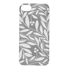 Gray and white floral pattern Apple iPhone 5S/ SE Hardshell Case