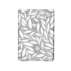 Gray and white floral pattern iPad Mini 2 Hardshell Cases