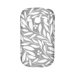 Gray and white floral pattern Samsung Galaxy S6810 Hardshell Case