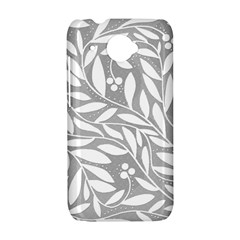 Gray and white floral pattern HTC Desire 601 Hardshell Case