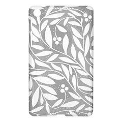 Gray and white floral pattern Nexus 7 (2013)