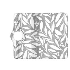 Gray and white floral pattern Kindle Fire HDX 8.9  Flip 360 Case