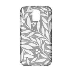 Gray and white floral pattern Samsung Galaxy S5 Hardshell Case