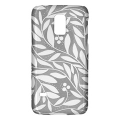 Gray and white floral pattern Galaxy S5 Mini