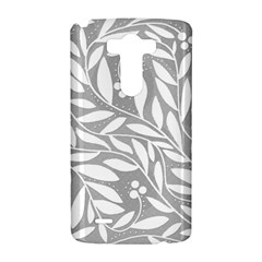 Gray and white floral pattern LG G3 Hardshell Case