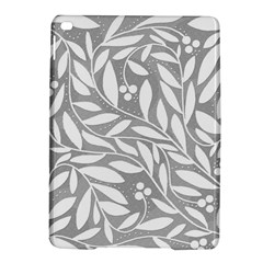 Gray and white floral pattern iPad Air 2 Hardshell Cases