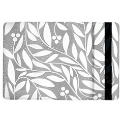 Gray and white floral pattern iPad Air 2 Flip