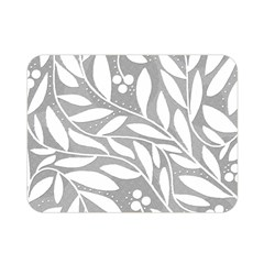 Gray and white floral pattern Double Sided Flano Blanket (Mini)
