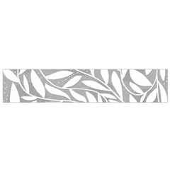 Gray and white floral pattern Flano Scarf (Small)