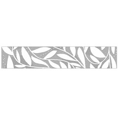 Gray and white floral pattern Flano Scarf (Large)