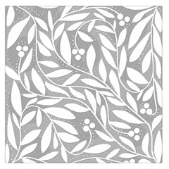 Gray and white floral pattern Large Satin Scarf (Square)