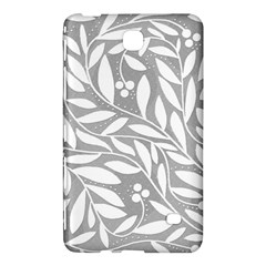 Gray and white floral pattern Samsung Galaxy Tab 4 (8 ) Hardshell Case