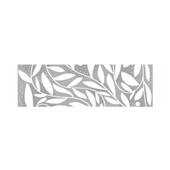 Gray and white floral pattern Satin Scarf (Oblong)