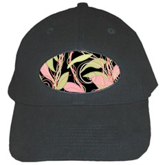 Pink and ocher ivy Black Cap