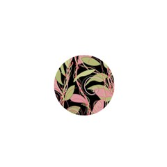 Pink and ocher ivy 1  Mini Magnets